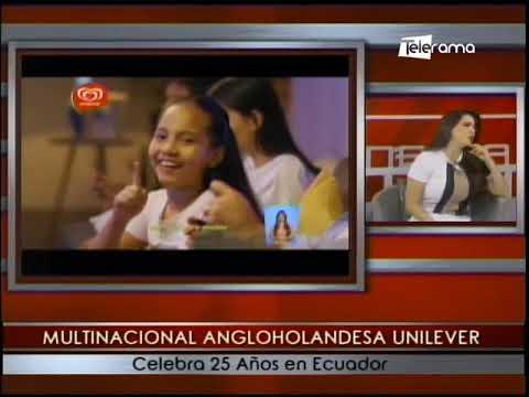 Multinacional Angloholandesa Unilever celebra 25 años en Ecuador