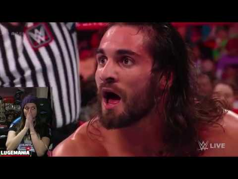 WWE Raw 3/12/18 Seth Rollins vs Finn Balor