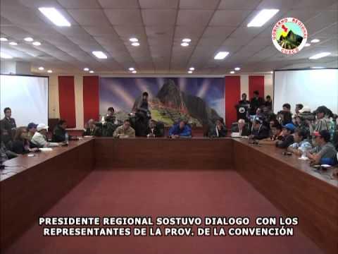 PDTE. REGIONAL INVOC� A GOBIERNO CENTRAL ESTABLECER DI�LOGO ANTE DEMANDAS DE LA CONVENCI�N