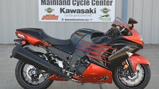 5. 2014 Kawasaki ZX14R ABS Ninja Candy Burnt Orange  Overview and Review  For Sale $15,699