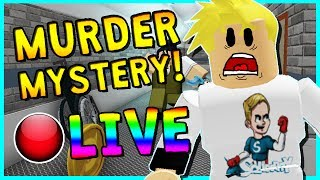 • MURDER MYSTERY WITH SUBSCRIBERS!?   ROBLOX LIVESTREAM   COME HANG OUT!