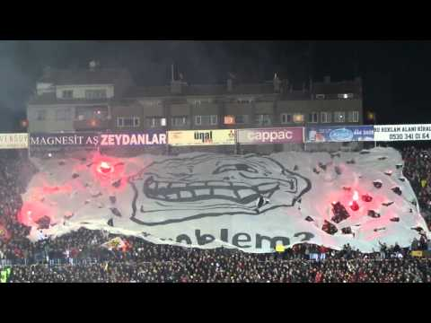 Turkey - Fans Display Trollface Banner