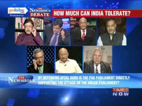 newshour - In a debate moderated by TIMES NOW's Editor-in-Chief Arnab Goswami, panelists -- Dr. Chandan Mitra, Editor-in-Chief, The Pioneer & MP, Rajya Sabha, BJP; Maro...