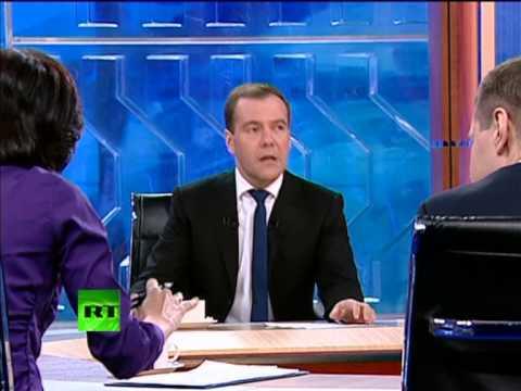 Интервью Медведева журналистам. 5 минут вне кадра