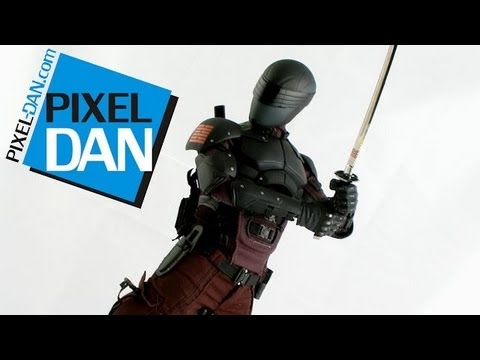Hot Toys G. I. Joe Retaliation Snake Eyes Movie Masterpieces 1/6 Figure Video Review