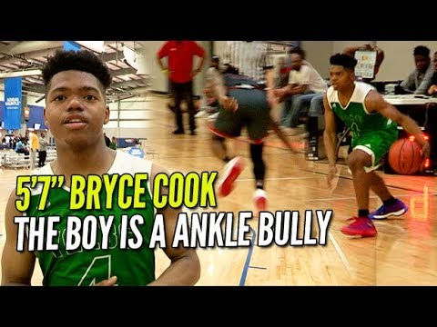 """5'7"""" BRYCE COOK IS A STRAIGHT ANKLE BULLY! Hilarious Interview w/ Kaden Archie After! Adidas YGC!"""