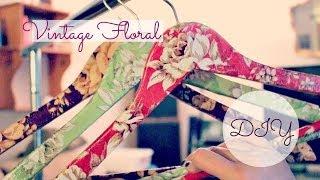 DIY Vintage Floral Decoupage Clothes Hangers - YouTube