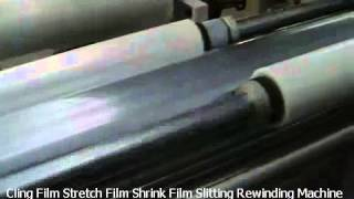 Cling Film Stretch Film Shrink Film Slitting Rewinding Machine