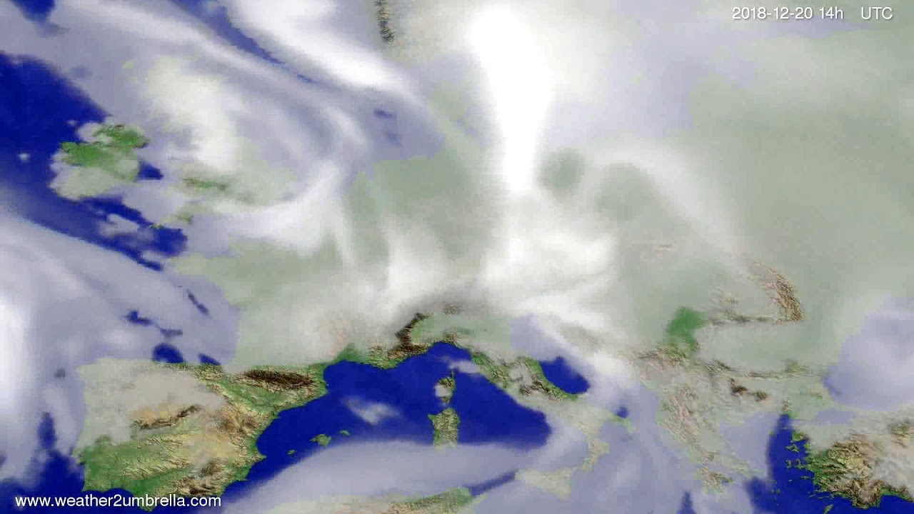 Cloud forecast Europe 2018-12-16
