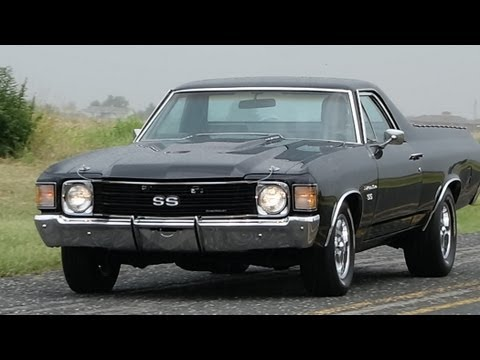 1972 Chevrolet Chevelle El Camino SS Custom American Musclecar in HD Action