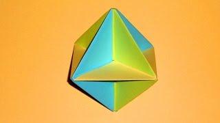 Оригами шар игрушка из бумаги. Простые поделки для детей