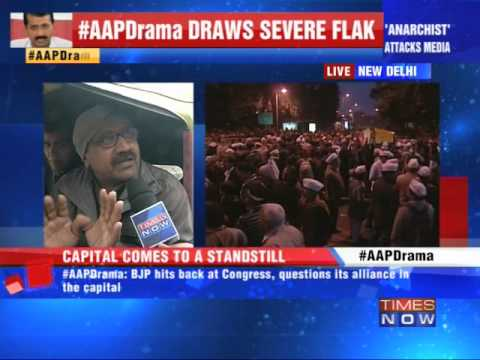 Delhi CM protests, aam aadmi suffers
