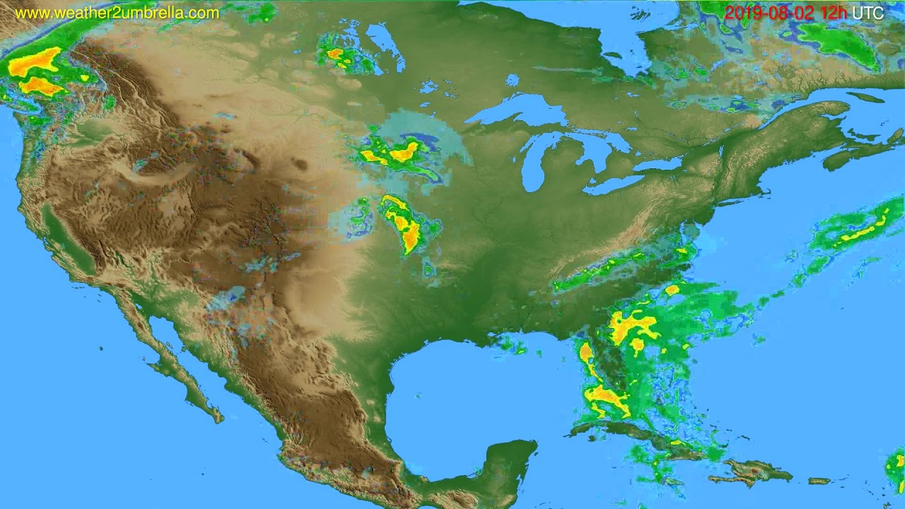 Radar forecast USA & Canada // modelrun: 00h UTC 2019-08-02