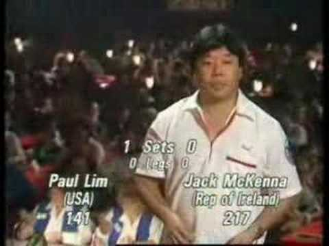 Paul Lim 9 dart finish in 1990
