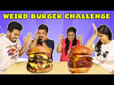 WEIRD BURGER EATING COMPETITION | TWISTED BURGER EATING COMPETITION