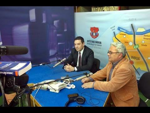 Gostovanje predsednika opštine Inđija na Radio-televiziji Inđija