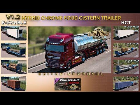 Hybrid Chrome Food Cistern Trailer Mod v1.2