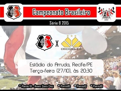 P10 - Santa Cruz 2 x 0 Criciúma 27/10/2015 - Portão 10 - Santa Cruz