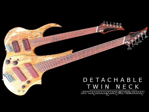 Custom built detachable twin neck guitar demo video