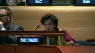 Swati Shresth's intervention as Lead Discussant at the HLPF 2015: http://webtv.un.org