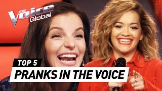 Superstars PRANK The Voice coaches with unexpected Audition