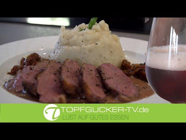 Champagner Alexandre Bonnet   Rosé Brut   Entenbrust   Fruchtsauce   Selleriepüree   Rezeptempfehlung Topfgucker-TV