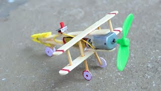 Video How to make Aeroplane with DC motor - [ wooden plane ] MP3, 3GP, MP4, WEBM, AVI, FLV Desember 2018