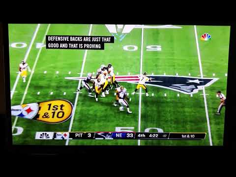 Devin McCourty #32 interception in end zone Patriots/Steelers