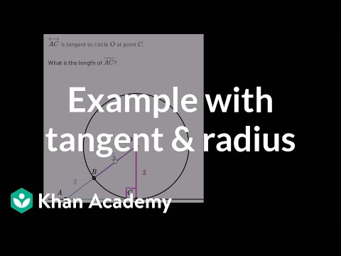 Tangents Of Circles Problem Example 3 Video Khan Academy