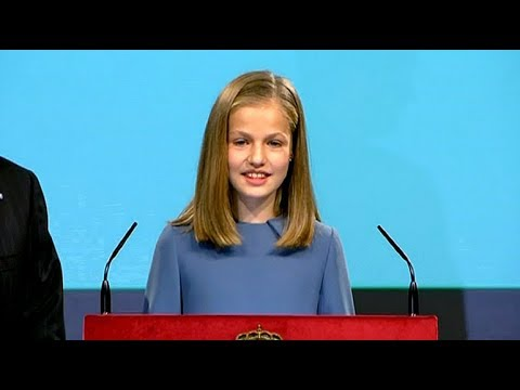 Spain's Princess Leonor Performs First Public Reading