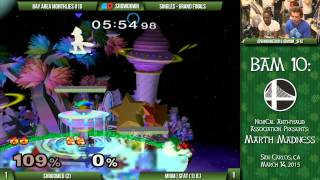 BAM  10 – Shroomed (Sheik/Marth) vs MIOM|SFAT (Fox) – GFs