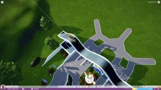 Aujourd'hui, on construit une montagne russe de type Wing, avec des boosts pour la propulser. Objectif : avoir un coaster couvert compact pour plus de réalisme. La suite bientôt !