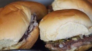 The Best White Castle Slider Recipe On YouTube | White Castle Cheeseburger