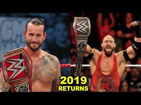 10 WWE RETURNS Rumored for 2019 - CM Punk & Ryback Returning