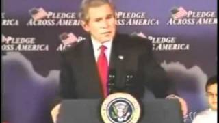 """George W. Bush botches a classic aphorism, saying, """"There's an old saying in Tennessee — I know it's in Texas, probably in..."""