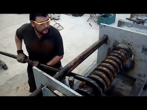Dangerous Skills Large Bending Machines Work - Extreme Forging Factory Machine