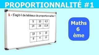 Maths 6ème - La proportionnalité 1 Exercice 5