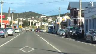 Lumsden New Zealand  city photo : Drive Through Riverton, Southland, NZ - 5 August 2014