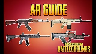 BATTLEGROUNDS AR GUIDE! PUBG GUN GUIDE! TrainingGrounds Episode 4! PUBG LIVE! Sorry for taking so long on these...