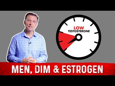 Men Using DIM for High Estrogen & Low Testosterone   Dr.Berg