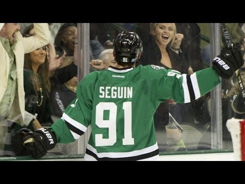 Tyler - Dallas Stars forward Tyler Seguin nets three goals in a row in the 2nd period to complete the natural hat trick against the Philadelphia Flyers.