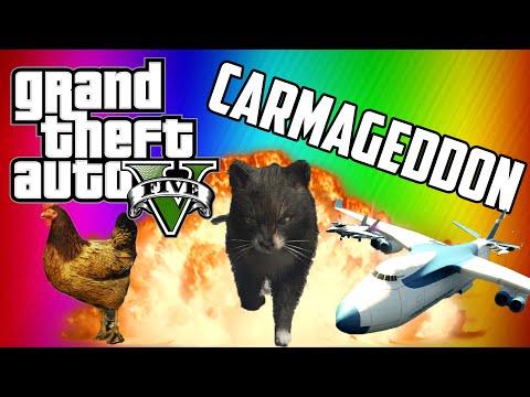 GTA 5 Carmageddon! Terrible Taxi Driver – Animal Apocalypse!