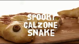 Halloween Recipes - How To Make A Spooky Calzone Snake