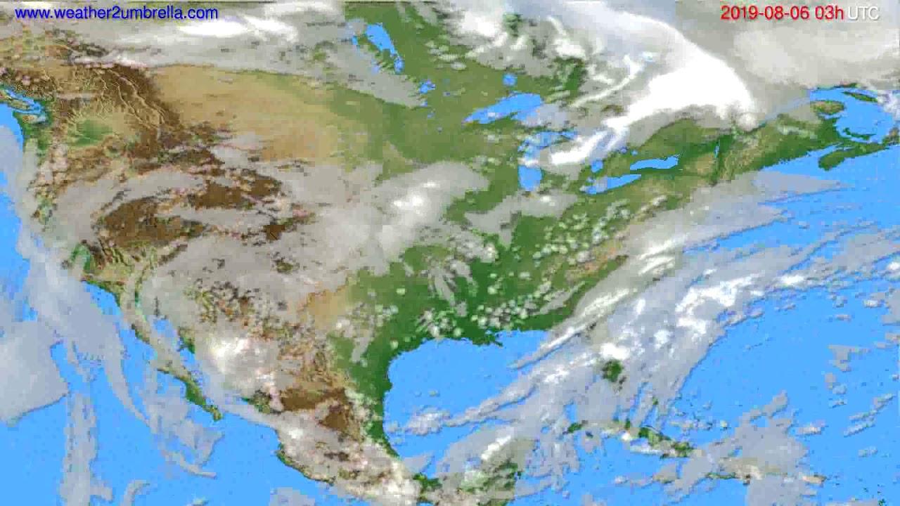 Cloud forecast USA & Canada // modelrun: 00h UTC 2019-08-03