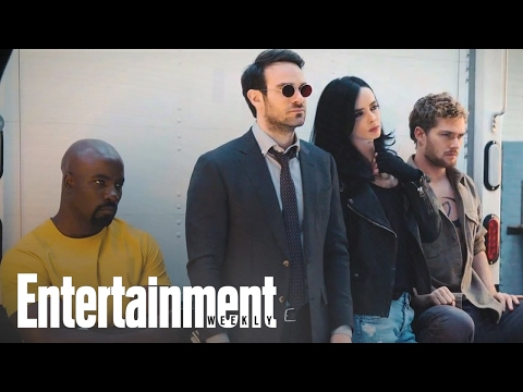 The Defenders: First Look At Marvel Mashup   Cover Shoot   Entertainment Weekly