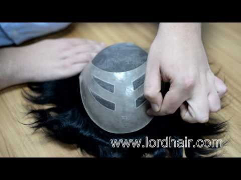 Fine Mono with Poly Perimeter Stock Hair Piece for Men | Lordhair