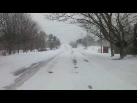 Winter Storm in Meteghan, Nova Scotia - Dec 15 2013 11am