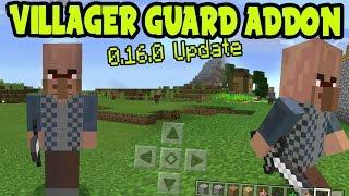 VILLAGER GUARD ADDON! MCPE GUARD ADDON and BEHAVIOR PACK! // MCPE 0.16.0 Minecraft Pocket Edition