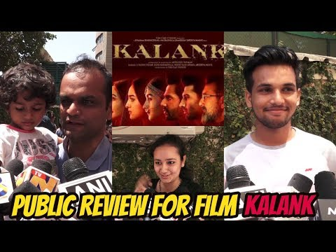 1st Day | 1st Show | Public Review | Film | Kalank