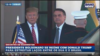 Bolsonaro e Trump participam de reunião inédita